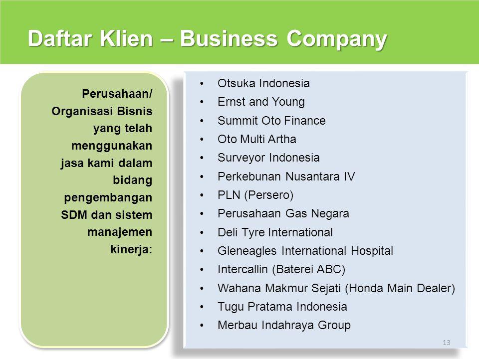 Daftar Klien – Business Company