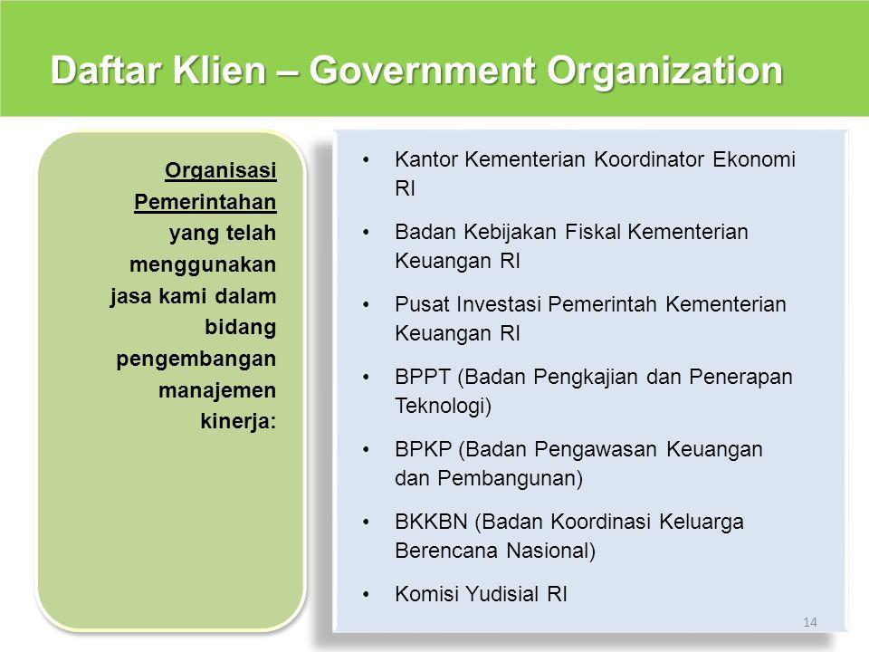 Daftar Klien – Government Organization