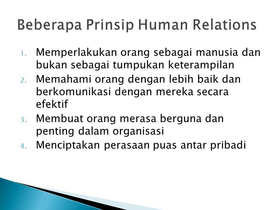 Beberapa Prinsip Human Relations