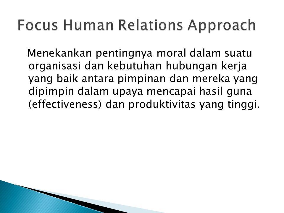 Focus Human Relations Approach