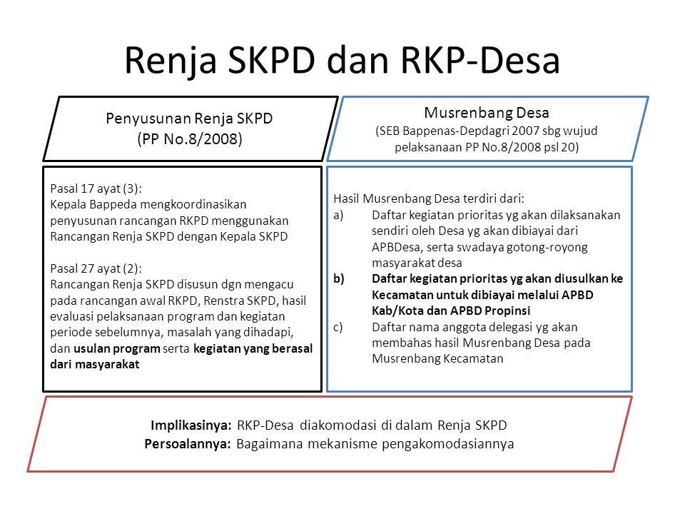 Renja SKPD dan RKP-Desa