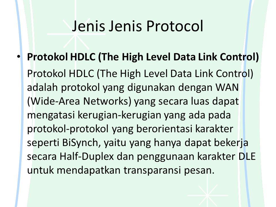 Jenis Jenis Protocol Protokol HDLC (The High Level Data Link Control)