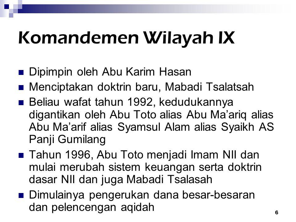 Komandemen Wilayah IX Dipimpin oleh Abu Karim Hasan