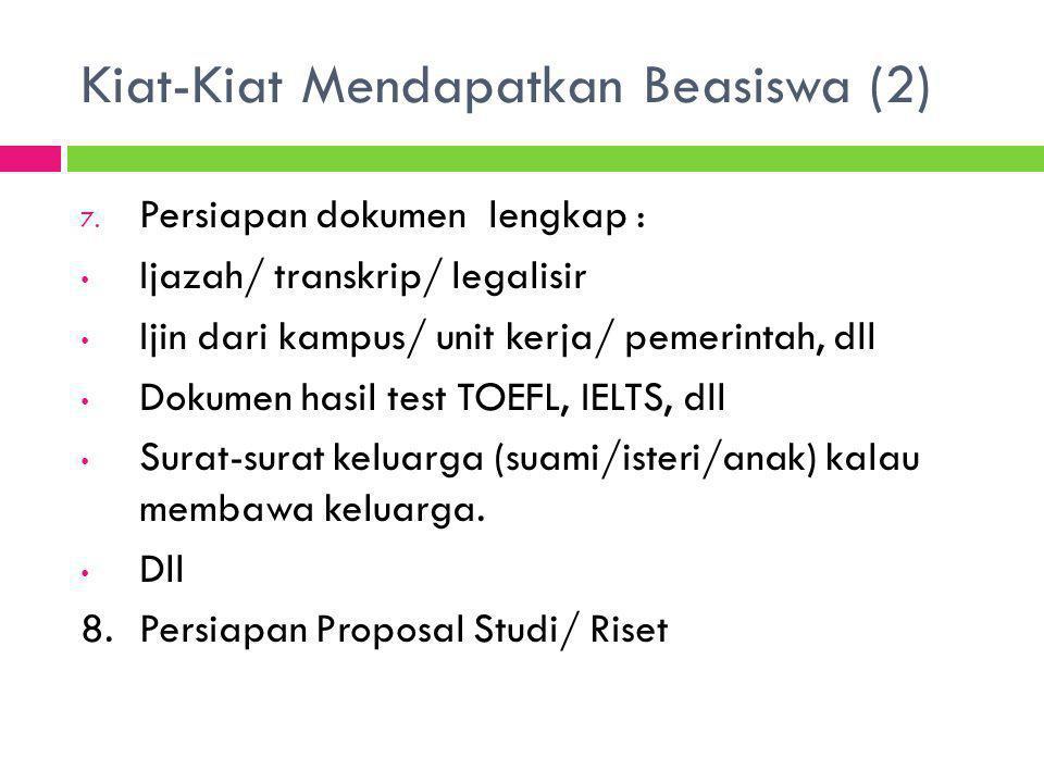 Kiat-Kiat Mendapatkan Beasiswa (2)