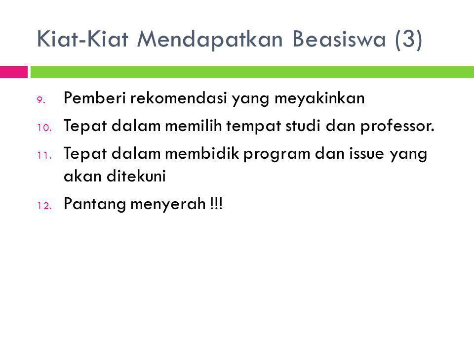 Kiat-Kiat Mendapatkan Beasiswa (3)