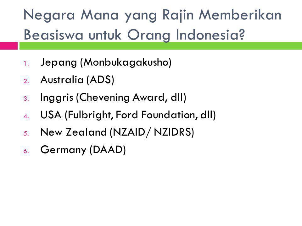Negara Mana yang Rajin Memberikan Beasiswa untuk Orang Indonesia