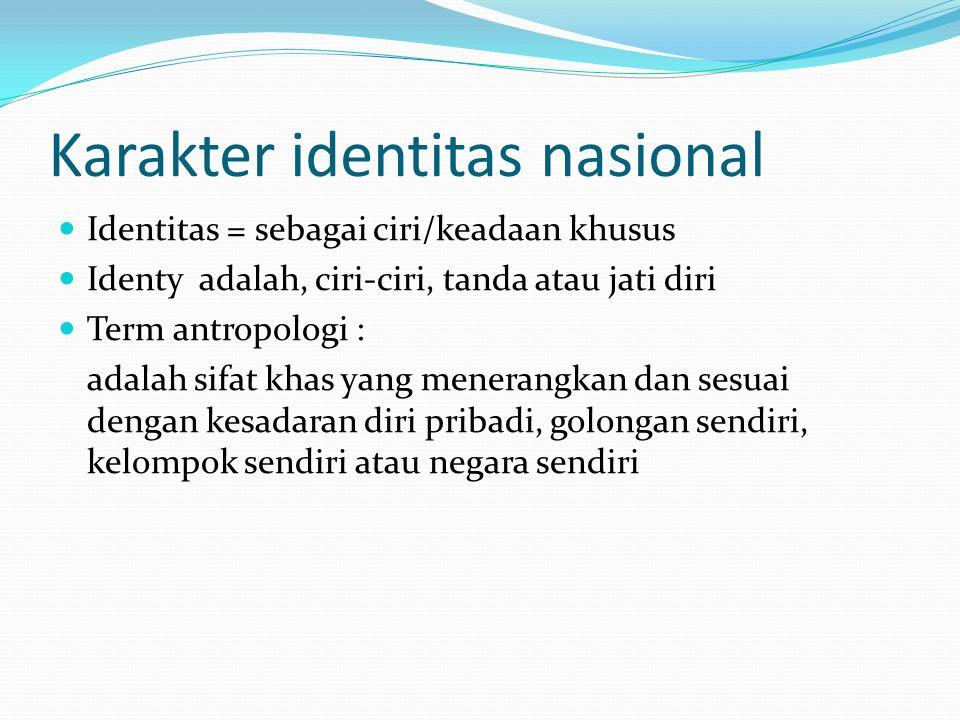 Karakter identitas nasional