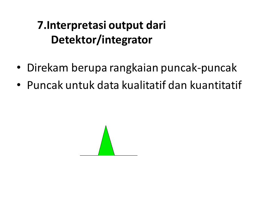 7.Interpretasi output dari Detektor/integrator