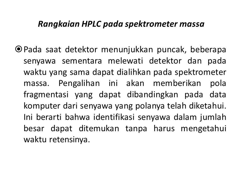 Rangkaian HPLC pada spektrometer massa