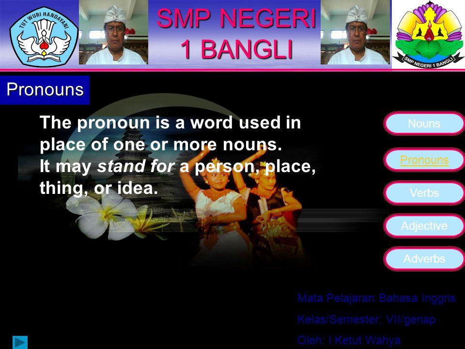 SMP NEGERI 1 BANGLI Pronouns