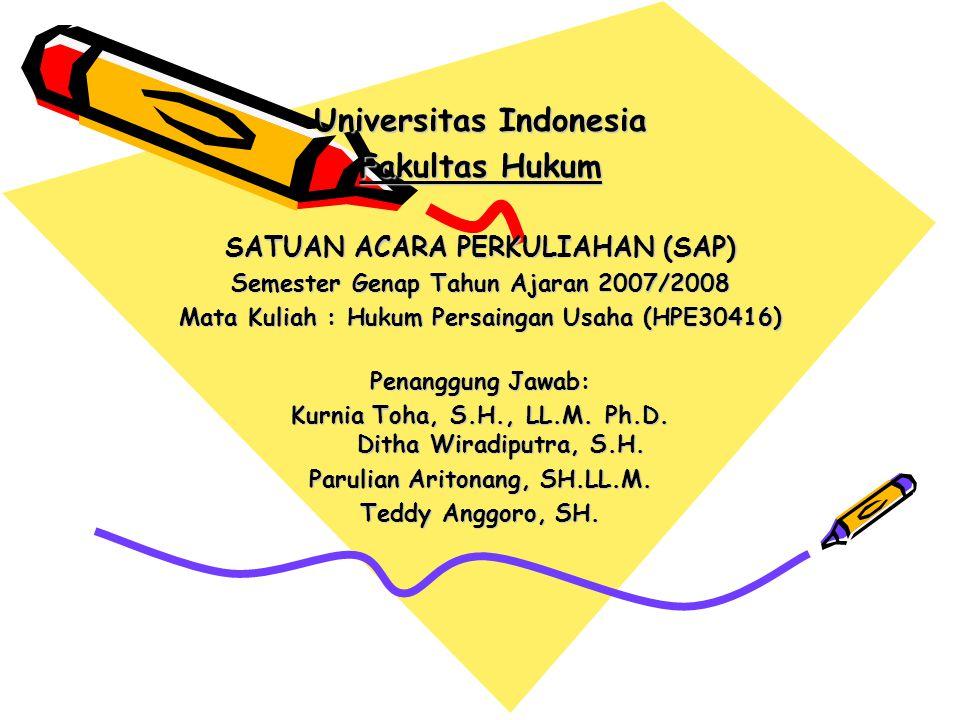 Universitas Indonesia Fakultas Hukum