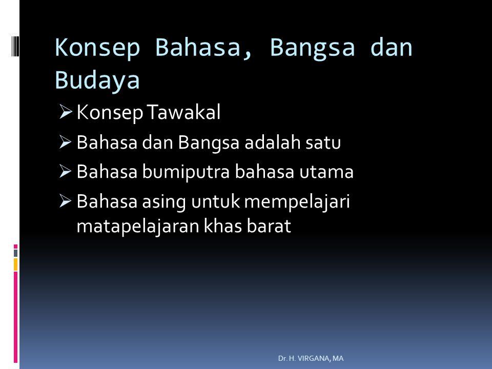 Konsep Bahasa, Bangsa dan Budaya