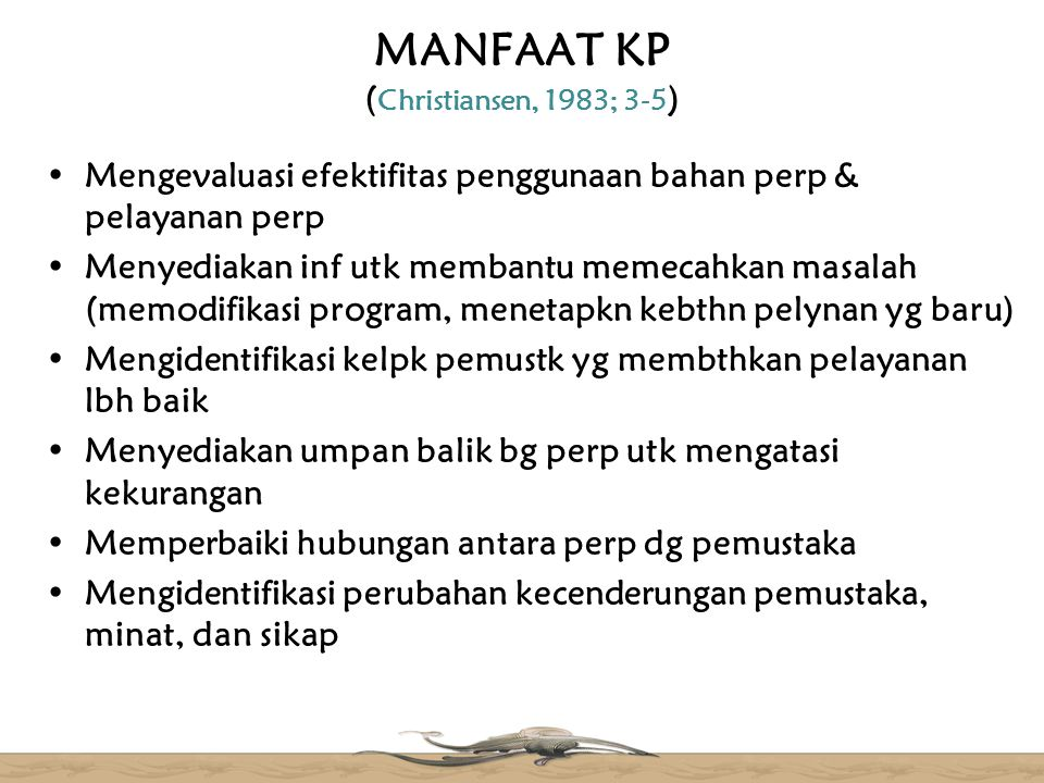 MANFAAT KP (Christiansen, 1983; 3-5)