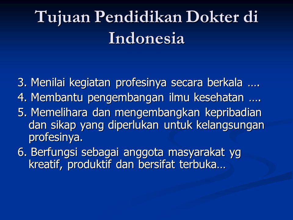 Tujuan Pendidikan Dokter di Indonesia