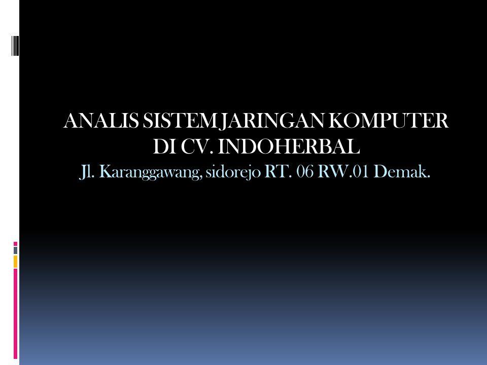 ANALIS SISTEM JARINGAN KOMPUTER DI CV. INDOHERBAL Jl