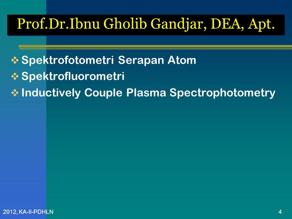 Prof.Dr.Ibnu Gholib Gandjar, DEA, Apt.
