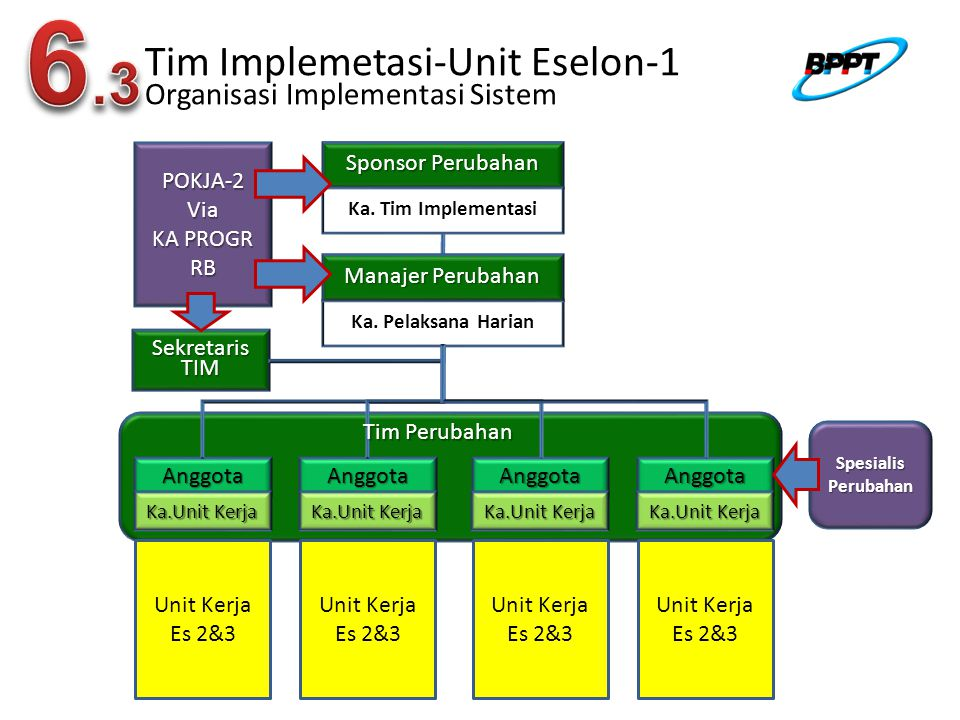 Tim Implemetasi-Unit Eselon-1 Organisasi Implementasi Sistem