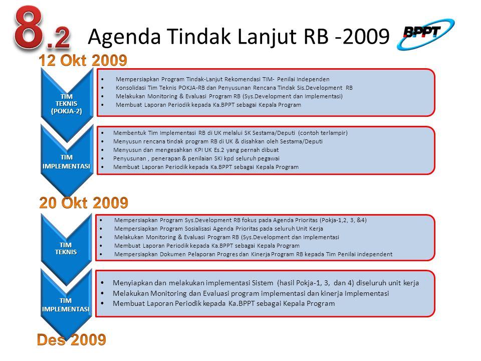 Agenda Tindak Lanjut RB -2009