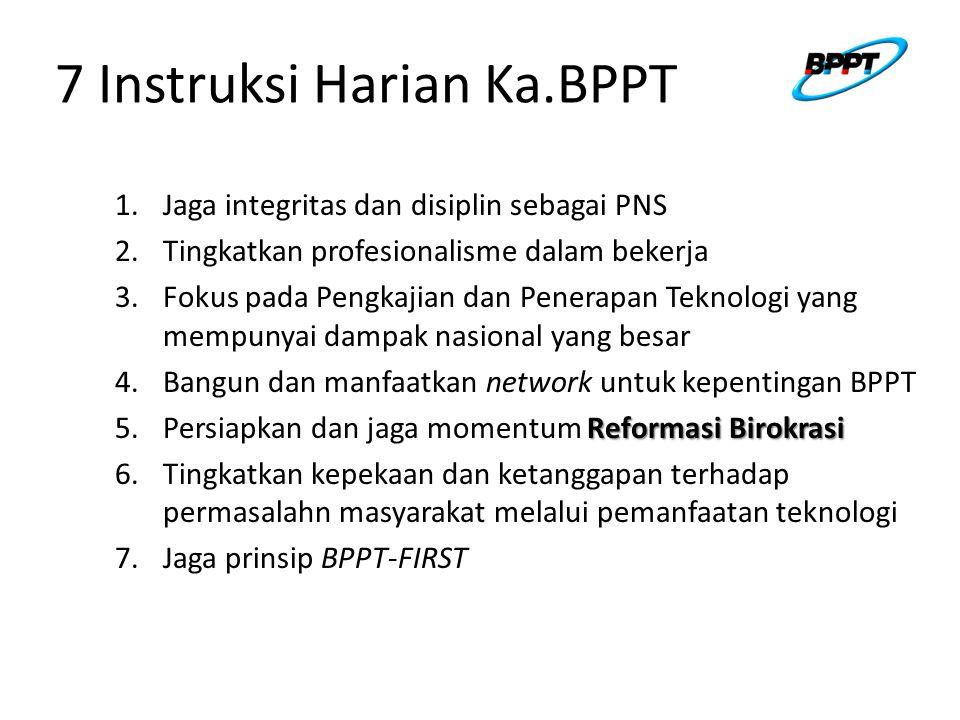7 Instruksi Harian Ka.BPPT