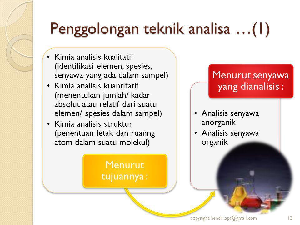 Penggolongan teknik analisa …(1)