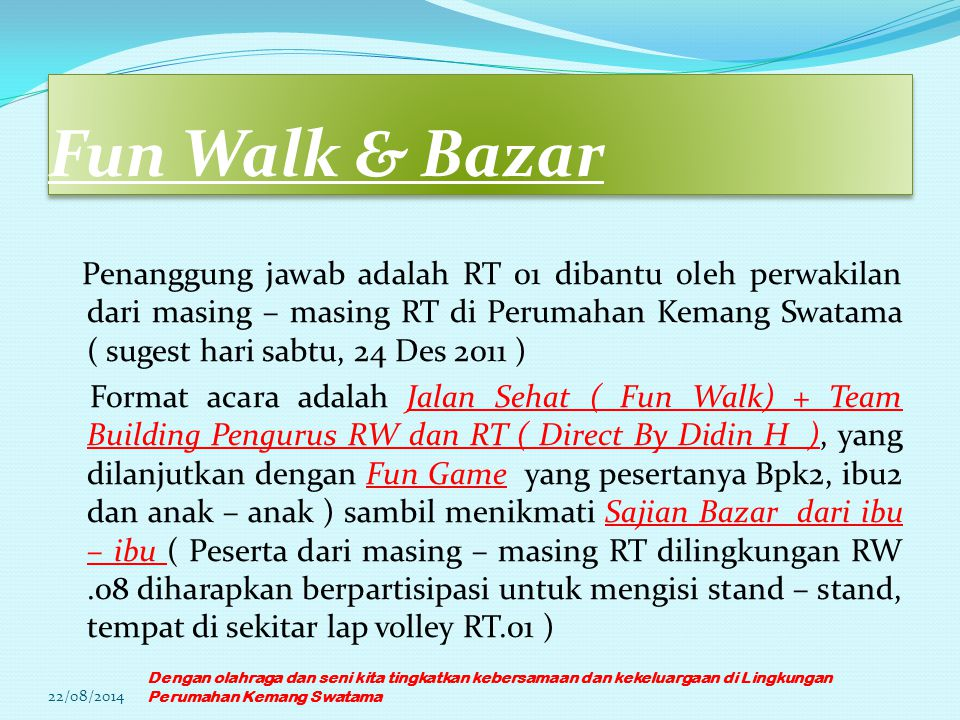 Fun Walk & Bazar