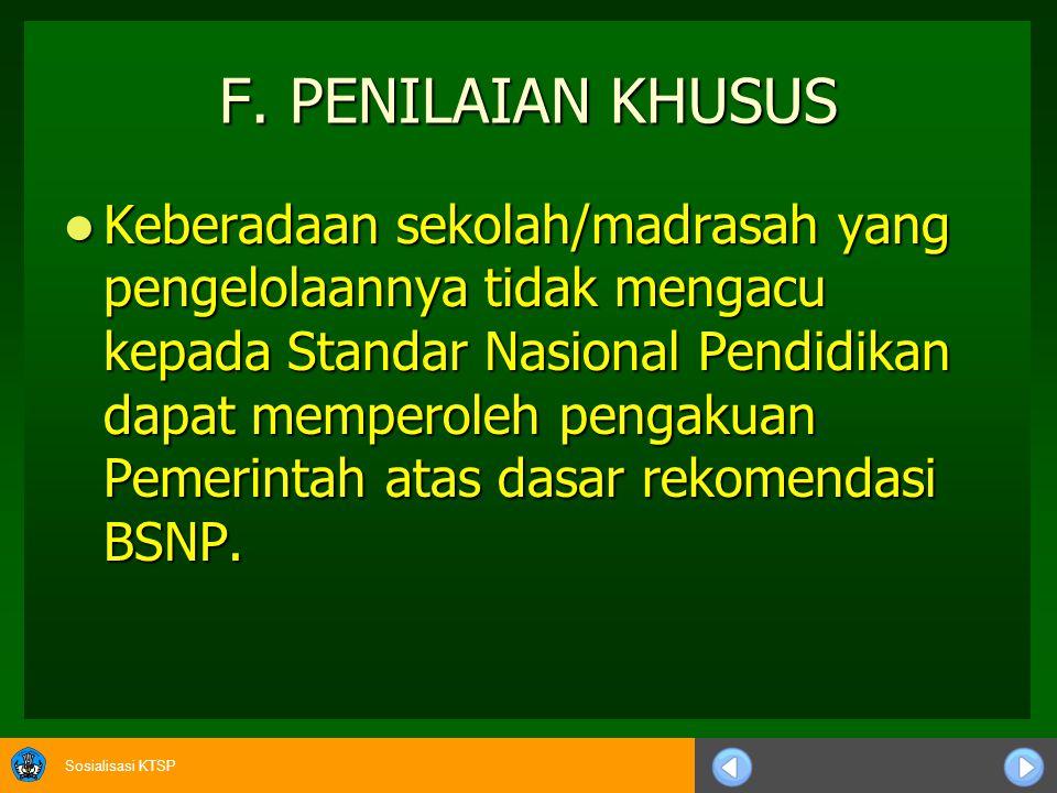 F. PENILAIAN KHUSUS