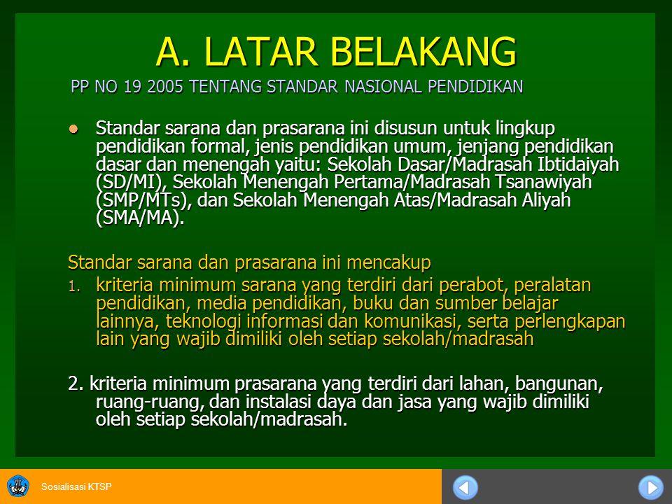 A. LATAR BELAKANG PP NO 19 2005 TENTANG STANDAR NASIONAL PENDIDIKAN.