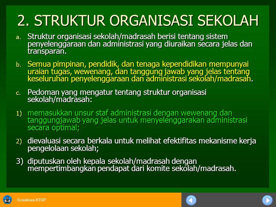 2. STRUKTUR ORGANISASI SEKOLAH