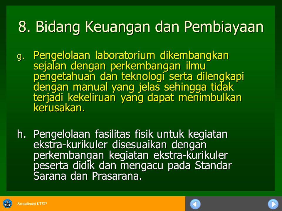 8. Bidang Keuangan dan Pembiayaan