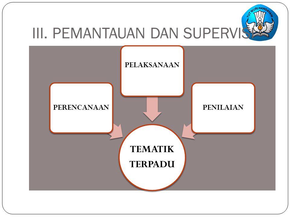 III. PEMANTAUAN DAN SUPERVISI