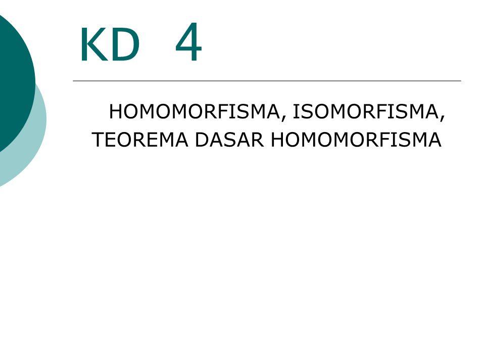 KD 4 HOMOMORFISMA, ISOMORFISMA, TEOREMA DASAR HOMOMORFISMA