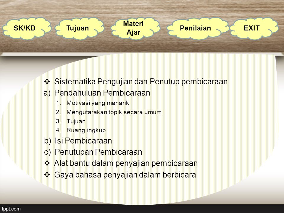 Sistematika Pengujian dan Penutup pembicaraan Pendahuluan Pembicaraan