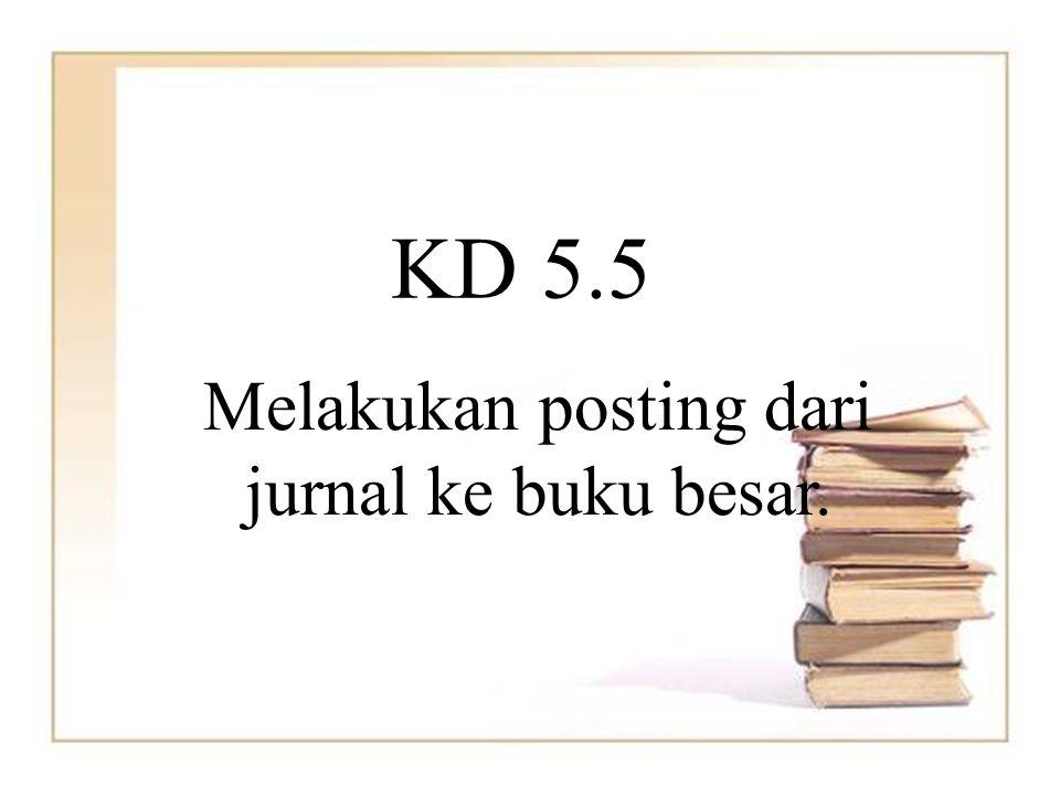Melakukan posting dari jurnal ke buku besar.