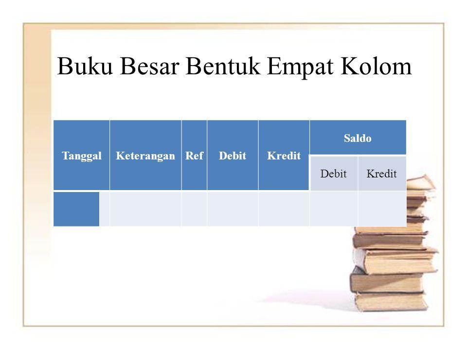 Buku Besar Bentuk Empat Kolom