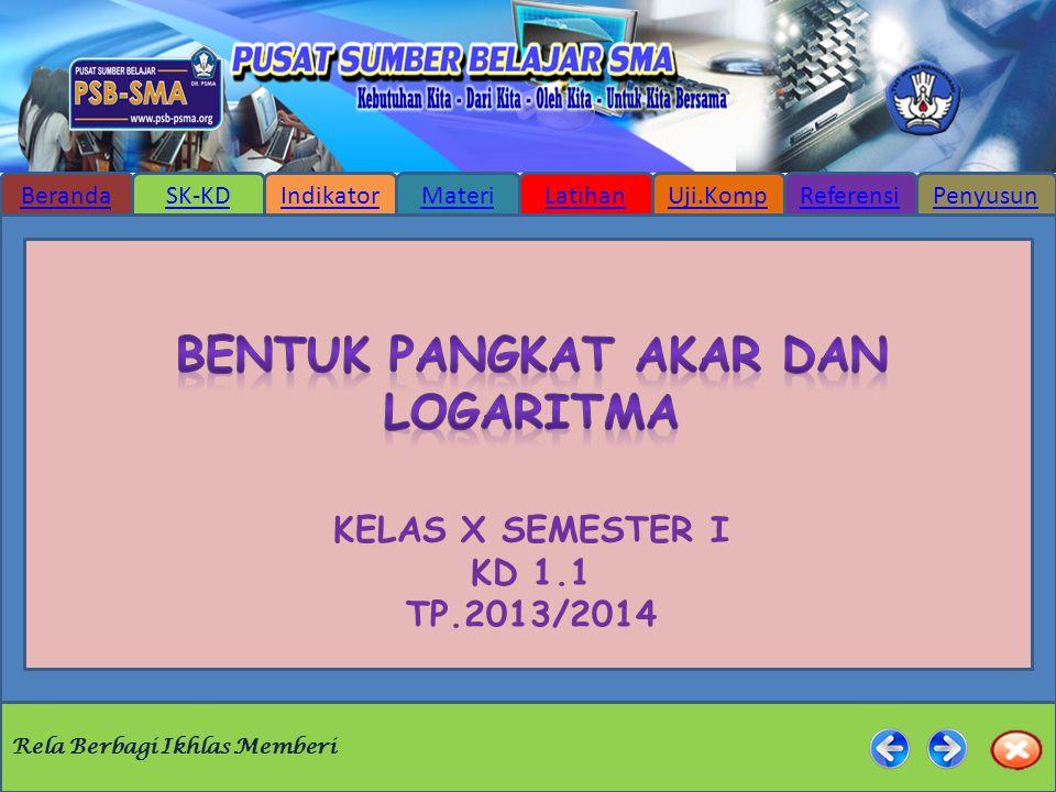 Kelas x semester i kd 1.1 tp.2013/2014