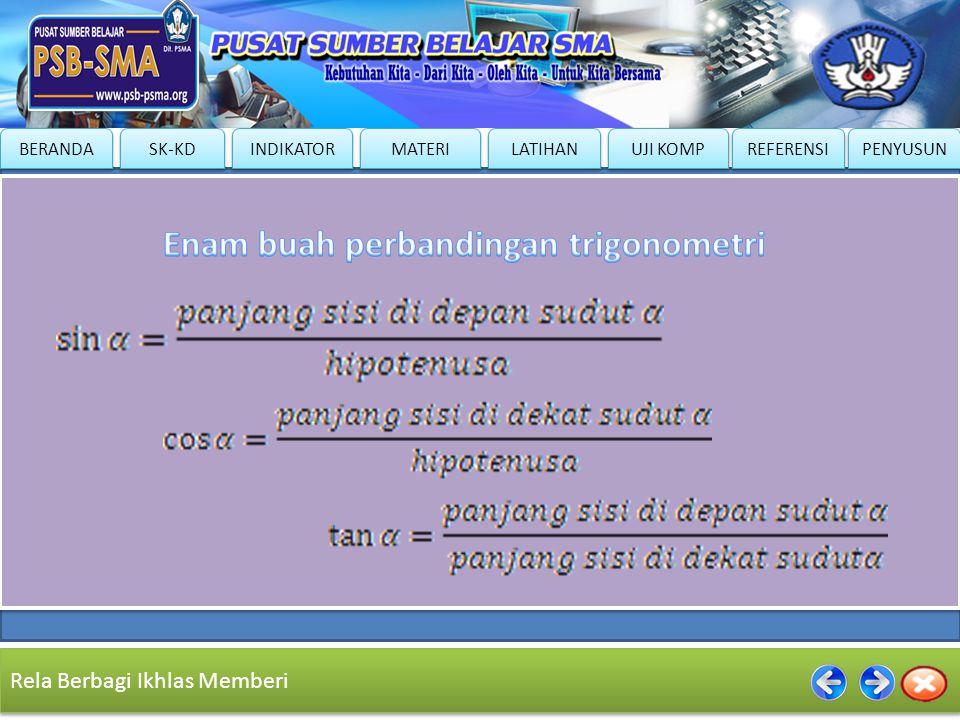 Enam buah perbandingan trigonometri