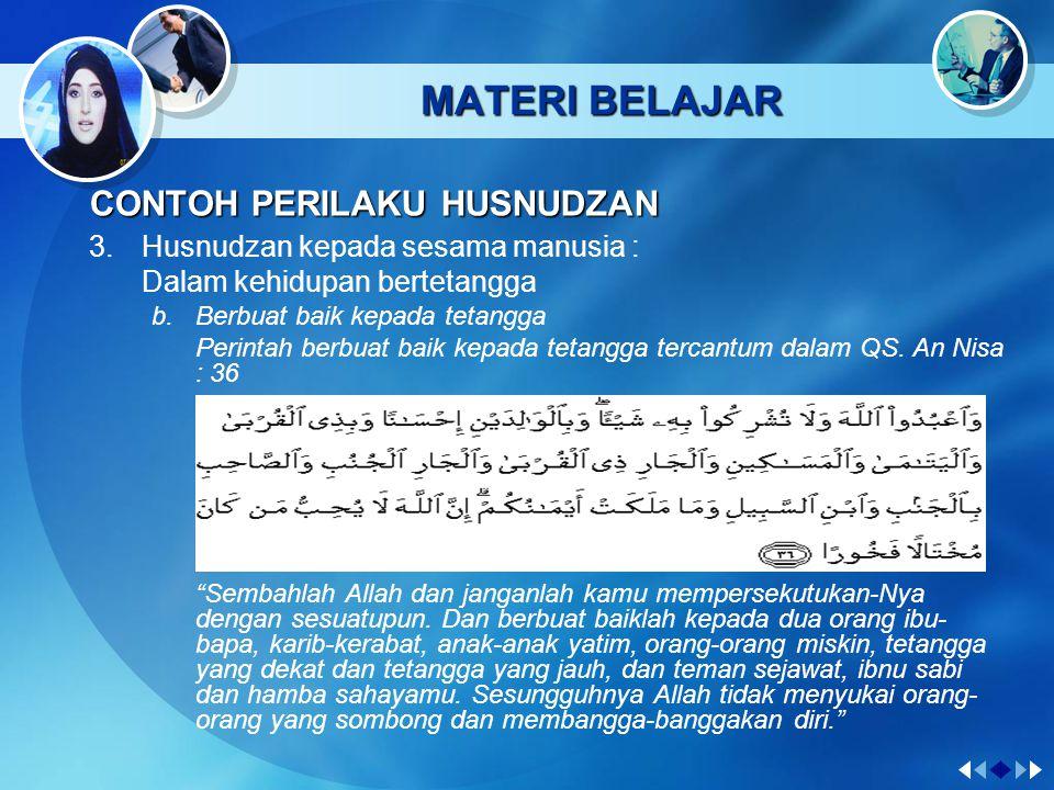 MATERI BELAJAR CONTOH PERILAKU HUSNUDZAN