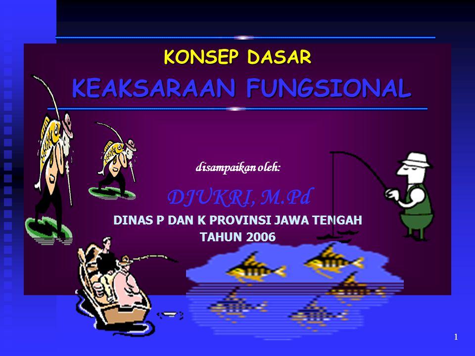 KEAKSARAAN FUNGSIONAL DINAS P DAN K PROVINSI JAWA TENGAH