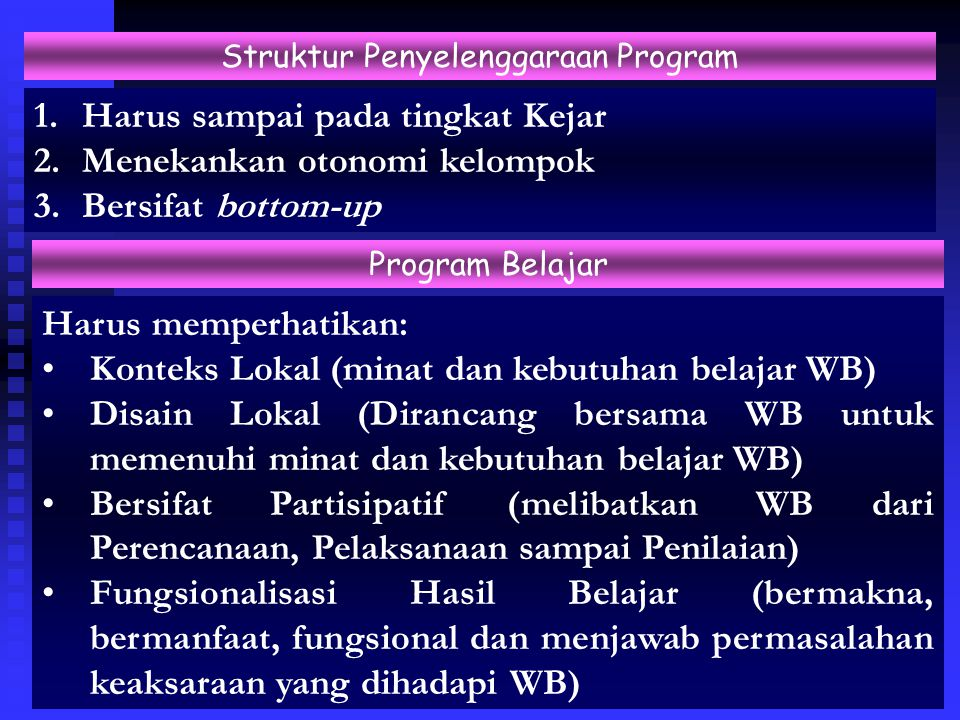 Struktur Penyelenggaraan Program