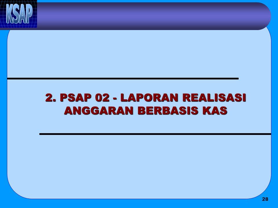 2. PSAP 02 - LAPORAN REALISASI ANGGARAN BERBASIS KAS