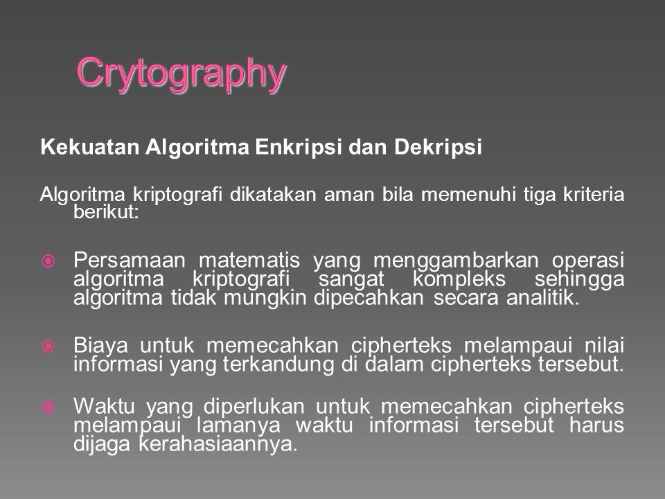 Crytography Kekuatan Algoritma Enkripsi dan Dekripsi