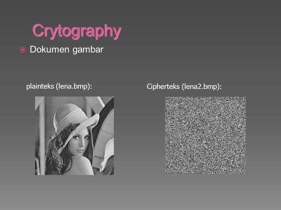 Crytography Dokumen gambar plainteks (lena.bmp):