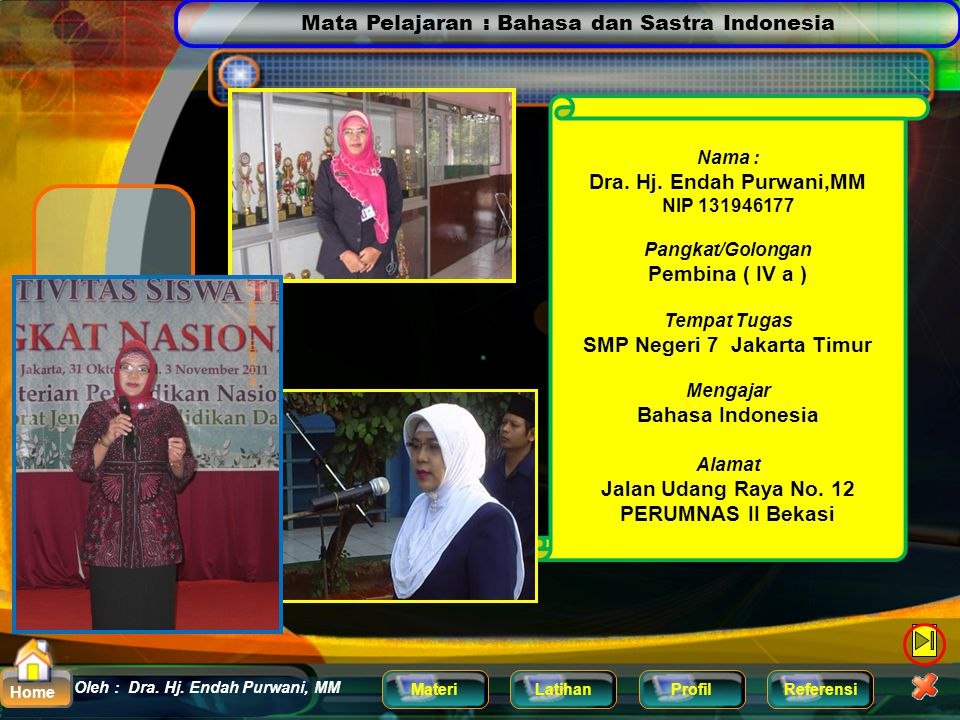 SMP Negeri 7 Jakarta Timur Jalan Udang Raya No. 12 PERUMNAS II Bekasi