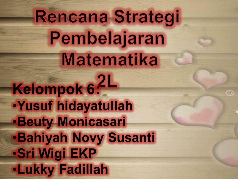 Rencana Strategi Pembelajaran