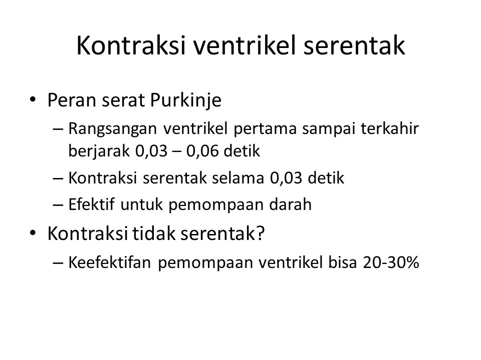 Kontraksi ventrikel serentak