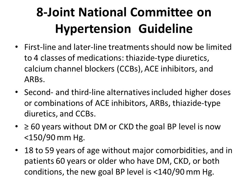 8-Joint National Committee on Hypertension Guideline