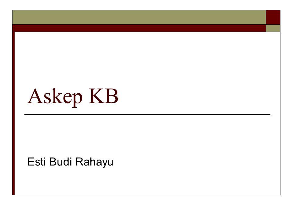 Askep KB Esti Budi Rahayu