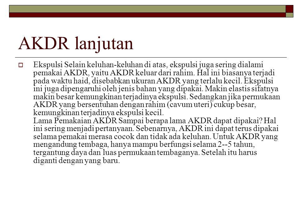 AKDR lanjutan