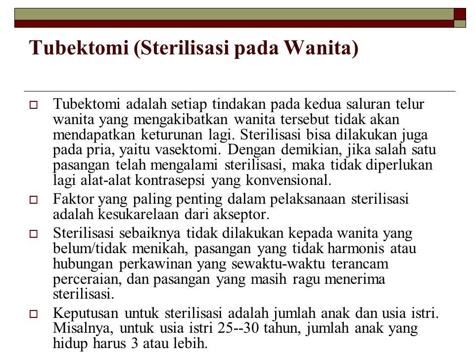 Tubektomi (Sterilisasi pada Wanita)