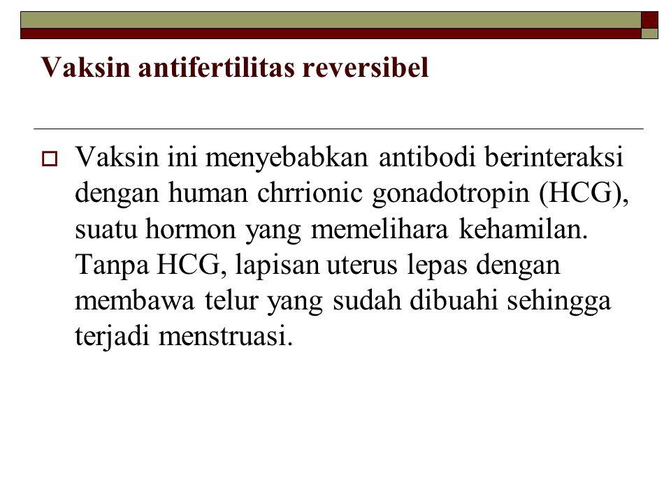 Vaksin antifertilitas reversibel